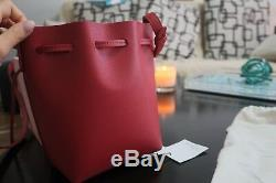 Mansur Gavriel Mini Mini Saffiano Bucket Bag In Red Flamma