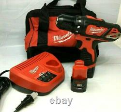 Milwaukee 2407-22 M12 Lithium-Ion Cordless 3/8 Drill Driver Kit Combo MD268