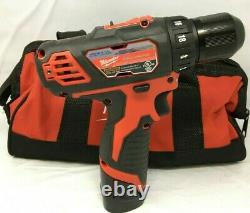 Milwaukee 2407-22 M12 Lithium-Ion Cordless 3/8 Drill Driver withcharger, LN
