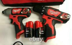 Milwaukee 2494-22 M12 3/8 in. Drill Driver and 1/4 in. Hex Impact Driver Kit LN