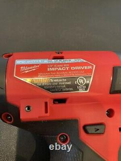 Milwaukee 2553-20 1/4-Inch M12 FUEL Hex Impact Driver Tool Only