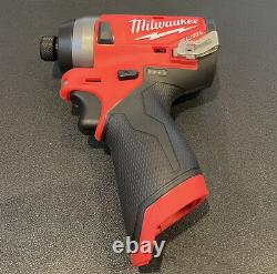 Milwaukee 2553-20 1/4-Inch M12 FUEL Hex Impact Driver with 4.0 Battery 48-11-2440
