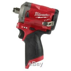Milwaukee 2555-20 M12 FUEL Compact Stubby 1/2 Drive Impact Wrench Bare Tool