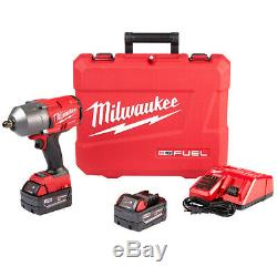 Milwaukee 2766-22 18-Volt 1/2-Inch M18 High Torque Detent Pin Impact Wrench Kit