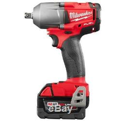 Milwaukee 2860-22 18-Volt 1/2-Inch Pin Detent Mid-Torque Impact Wrench Kit