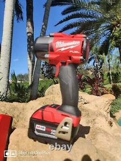 Milwaukee 2960-20 M18 FUEL 3/8 Mid-Torque Compact Impact Wrench + 5.0 Battery