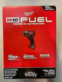 Milwaukee 2962-20 M18 1/2 Mid Torque Impact with friction ring NEW 2 DAY SHIPPING
