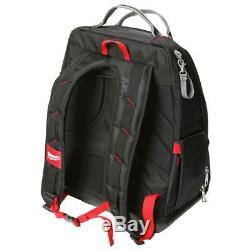Milwaukee PACKOUT Backpack 15 In. 44 Pockets Tool Storage System Heavy-Duty Red