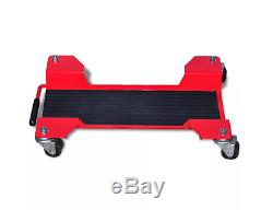 Motorcycle Dolly Centre Stand Motor Bike Garage Storage Trolly Red Heavy Duty