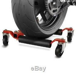 Motorcycle Dolly Mover ConStands Heavy Duty red