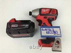 NEW Milwaukee 2656-20 1/4inch Hex Impact Driver With 3.0Ah 48-11-1828 battery