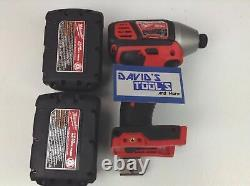 NEW Milwaukee 2656-20 Lithium 1/4 in Hex Impact Driver 2 48-11-1815 Batteries