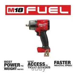 NEW Milwaukee 2962-20 M18 FUEL 1/2 Mid-Torque Impact Wrench with Friction Ring