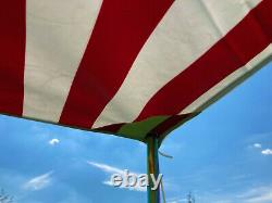 NLA Stripy heavy duty waterproof sun canopy in Red and white C9881R 63061200