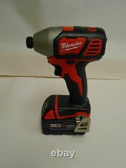 New Milwaukee 2656-20 1/4 impact driver and one M18 4.0 48-11-1840 battery