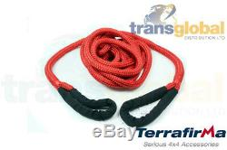 Off Road Challenge Kinetic Recovery Rope 30ft 13T Load Terrafirma TF3311