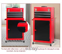 Premium & Portable Top Chest Rolling Tool Storage Box Cabinets Sliding Drawers
