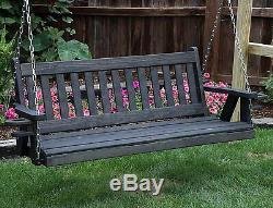 QUICK SHIP-Amish Heavy Duty 800 Lb Mission 4 ft Porch Swing With Cupholders-USA