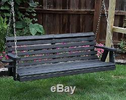 QUICK SHIP-Amish Heavy Duty 800 Lb Roll Back 4ft Porch Swing With Cupholders-USA