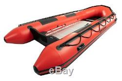 Quicksilver 420 Heavy Duty Red Inflatable Boat and Mariner 20hp F20ML Outboard