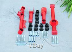 Red 4 pcs Rear Control Arms Kit with Polyurethane Bushing FOR 79-04 Ford Mustang