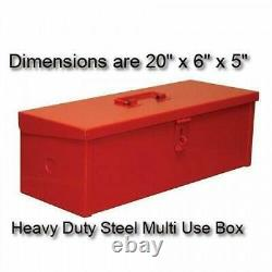 Red Storage or Tool Box Industrial Grade Metal Mountable or Portable Heavy Duty