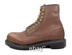 Red Wing Supersole 8 Steel Safety Toe Boot Brown Oil Resistant 2233 Men Size 12