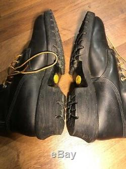 Red wing mens working boots size 12.5 iso 9001 certified black heavy duty
