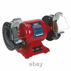 Sealey BG150XWith99 Bench Grinder 150mm with Wire Wheel 450With230V Heavy-Duty