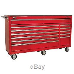 Sealey Heavy-Duty Rollcab 12 Drawer With Ball Bearing Runners Red AP6612
