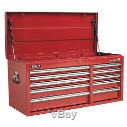 Sealey Heavy-Duty Topchest 10 Drawer With Ball Bearing Runners Red AP41110
