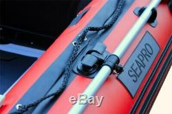 Seapro Heavy Duty 270HD Aluminum Floor Inflatable Dinghy 270cm Red/White Boat