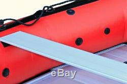 Seapro Heavy Duty 340HD Aluminum Floor Inflatable Dinghy 340cm Red/White Boat