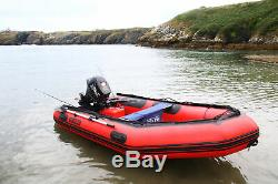 Seapro Heavy Duty 380HD Aluminum Floor Inflatable Dinghy 380cm Red/White Boat