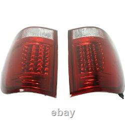 Set of 2 LED Tail Light For 1997-2003 Ford F-150 99-07 F-250 Super Duty Red Lens
