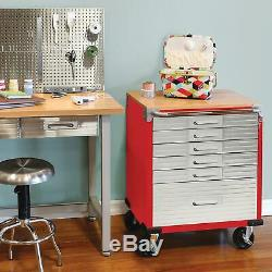 Seville Heavy Duty Stainless Steel Rolling Tool Box Cabinet Workbench 6 Drawer