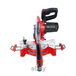 Sliding Miter Saw w Laser Guidance Heavy Duty Precision Cuts Tool 15 Amp 10 in