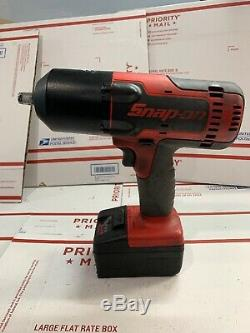 Snap On 1/2 Drive Red Black 18v Heavy Duty Impact Wrench CT8850 W Battery