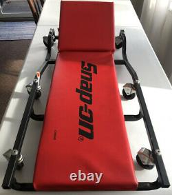 Snap On Flat Heavy Duty Creeper JCW65AR Made in USA Snap-On Red Vinyl