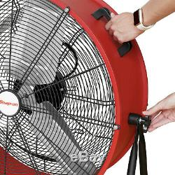 Snap-on Limited Edition 24 Industrial Heavy Duty Tilting Drum Fan with Wheels