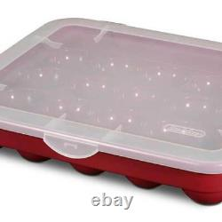 Sterilite 20 Compartment Christmas Holiday Ornament Box Storage Case (6 Pack)
