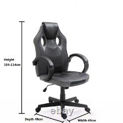 Swivel Office Chair Faux Leather Gaming Racing Computer Desk Chair Model-B