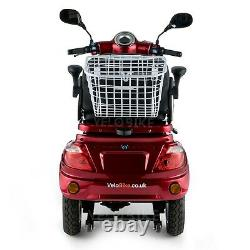 ZT15 RED 3 Wheeled ELECTRIC MOBILITY SCOOTER 900W 80AH VELECO